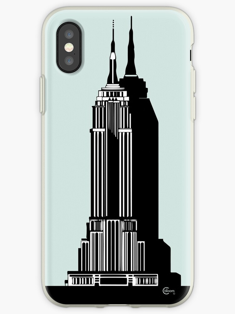 Empire State Building Deco Swing in blue by CecelyBloom