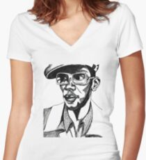 Mighty Mos Def Women's Fitted V-Neck T-Shirt