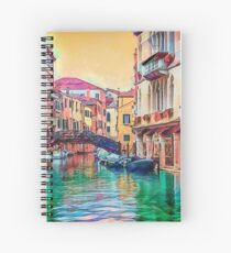 A Venetian Kaleidoscope Spiral Notebook