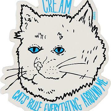 Rip N Dip Cream Cat by alleriaprints