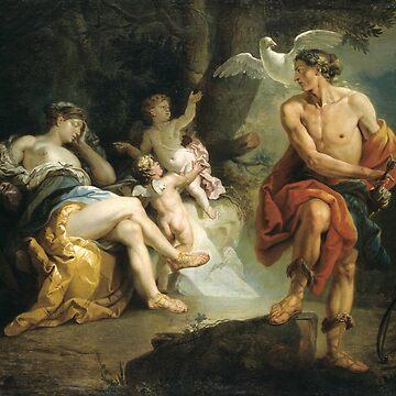 Vintage Johann  Zoffany Venus and Adonis 1760 by AllVintageArt