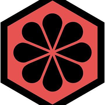 Geometric Pattern: Hexagon Flower: Red/Black by redwolfoz