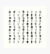 White Robots Art Print