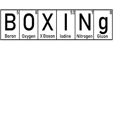 Boxing Gift Periodic Table Elements Martial Arts by NiceTeee