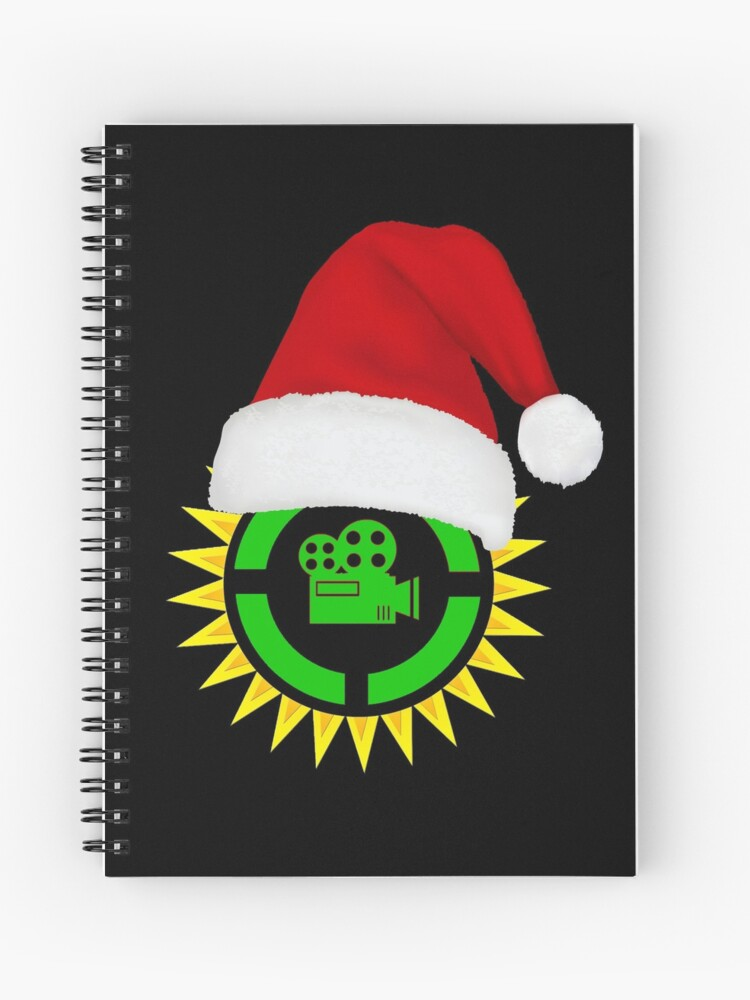 Christmas Film Theory Ultimate Parallel Logo Santa Hat Gift Ideas Spiral Notebook