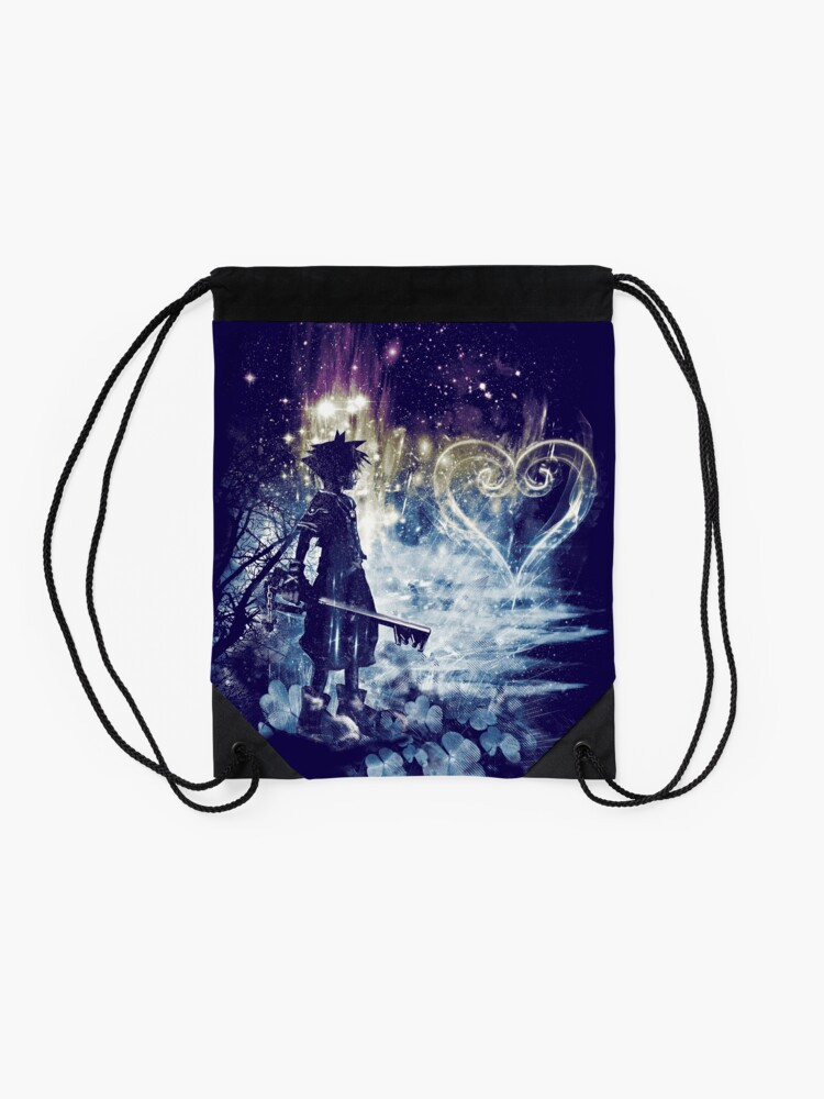 Alternate view of a path to the heart Drawstring Bag