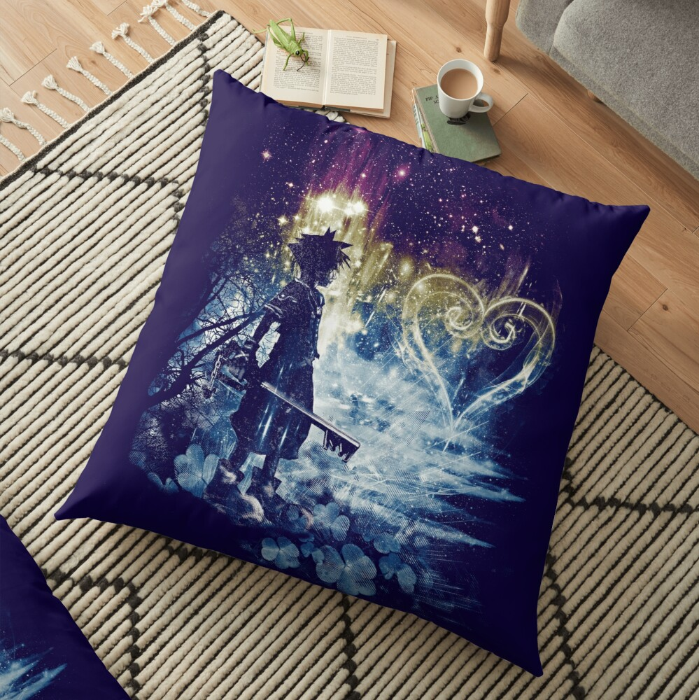 a path to the heart Floor Pillow