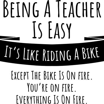 Being a teacher is easy funny t-shirt by RedYolk