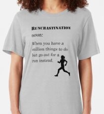 Running Womens - Runcrastination Noun Slim Fit T-Shirt