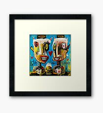 Love and Coffee Framed Print