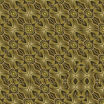 Brown Geometric Ornate Pattern Print by DFLCreative