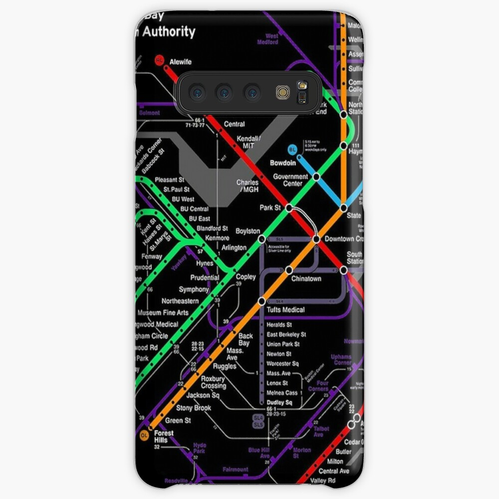 MBTA Boston Subway Hülle & Klebefolie für Samsung Galaxy