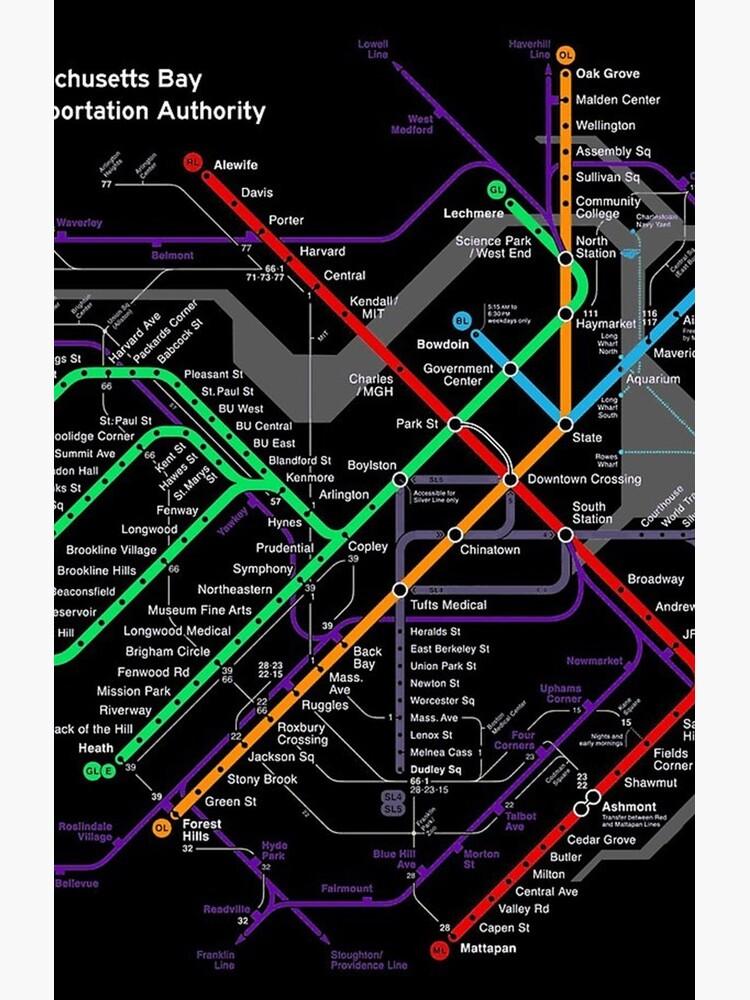 MBTA Boston Subway von psadjj