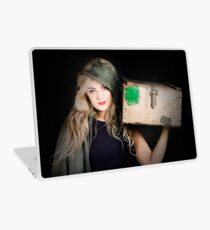 Attractive pinup girl. Blond bombshell Laptop Skin