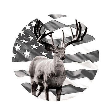 American Best Buckin Dad Ever Gift Deer Design by BOBSMITHHHHH