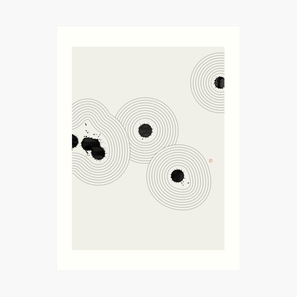 Accidental Zen Garden n°1 (West Meets East Series) Art Print