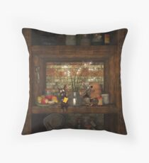 Christmas in the Cellar Throw Pillow