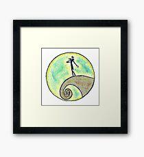 Tim Burton, Nightmare before Christmas, Drawing, Hand drawn, Design, Illustration, Tim Burton art, Sketch, Doodles, Gifts, Presents  Framed Print