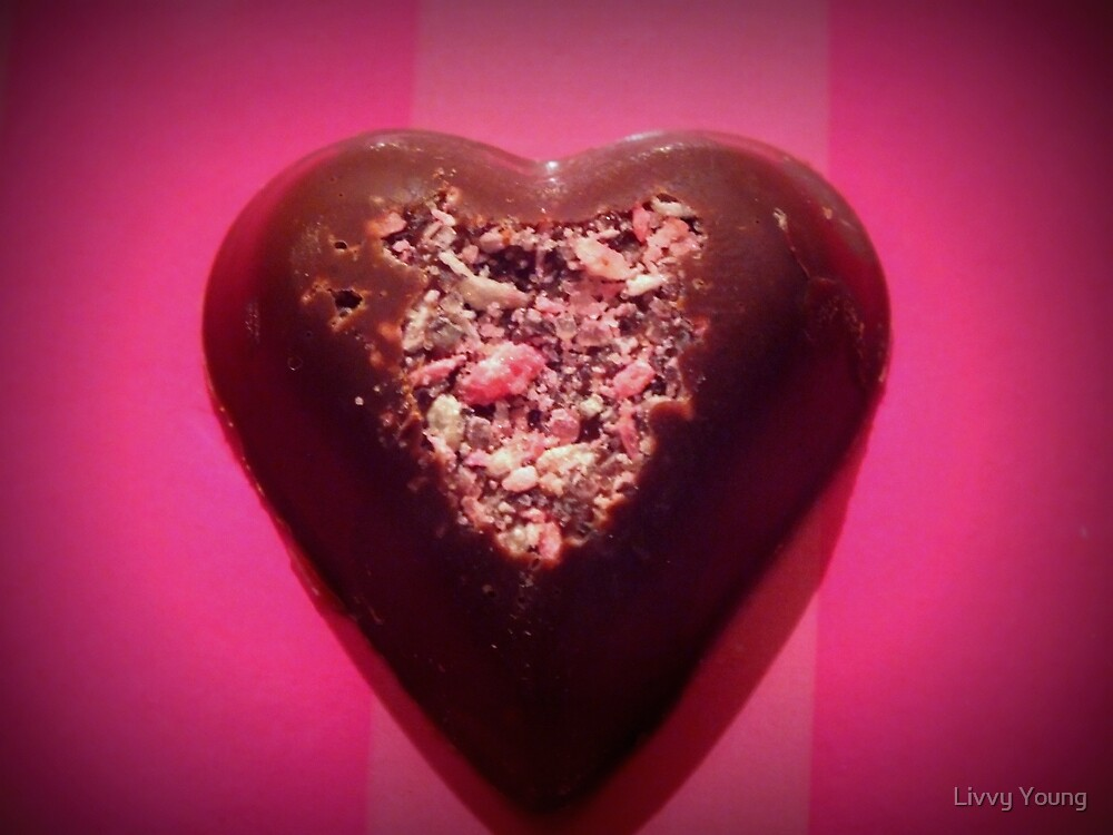 Ice filled heart. (coconut ice) by Livvy Young
