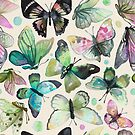 watercolor butterflies by camcreativedk