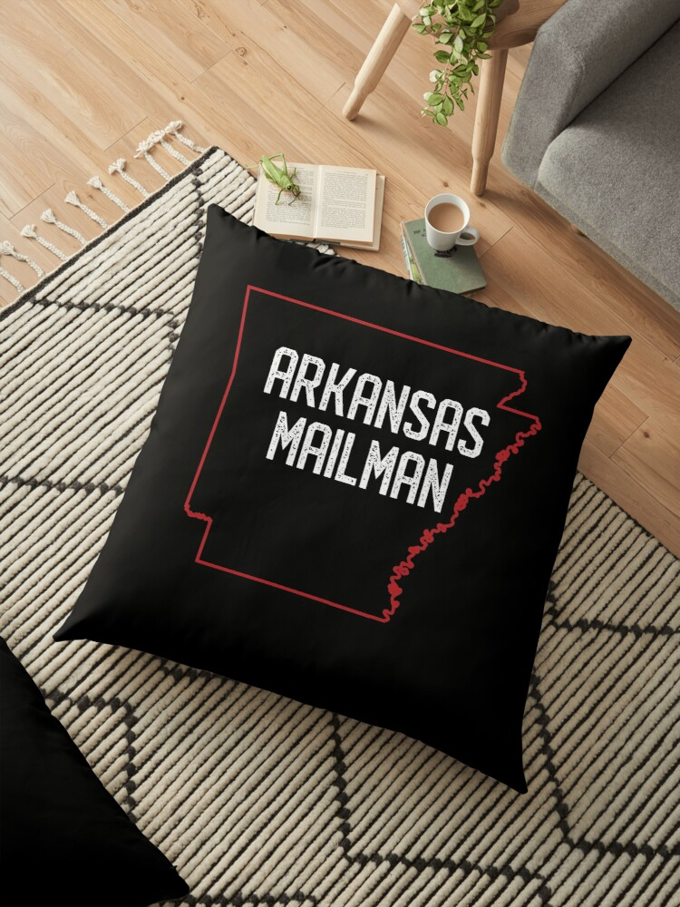 Arkansas Funny And Rude Mailman Postal Worker Gift T Shirt Floor Pillow By Pacomerch