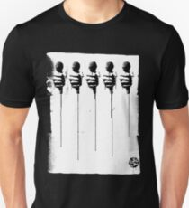 Five Mics - Black/White Unisex T-Shirt