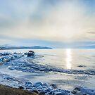 Frozen wharf and Halo  by Svetlana Korneliuk