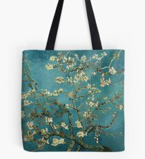 Blossoming Almond Tree, famous post  impressionism fine art oil painting by Vincent van Gogh.  Tote Bag