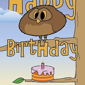 Baby Owl Birthday Card by ThePeterSimon