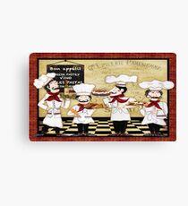French Chefs-Bon Appetit Canvas Print
