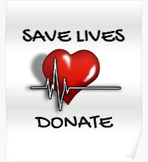 Save Lives Donate Heartbeat  Poster