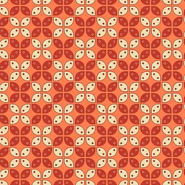 Living Coral Kawung  Pattern  by Gravityx9