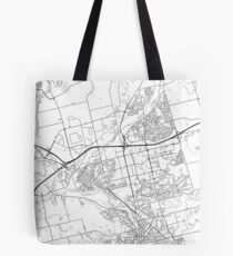 Cambridge map poster print wall art, Ontario gift printable, Home and Nursery, Modern map decor for office, Map Art, Map Gifts Tote Bag