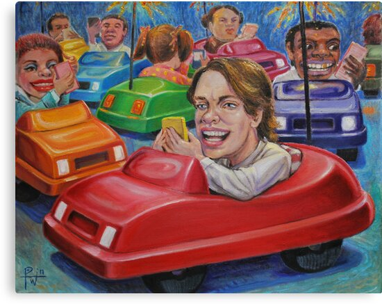 Bumper Car Texting by HDPotwin