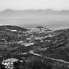Laureana Cilento: landscape with Agropoli and sea by Giuseppe Cocco
