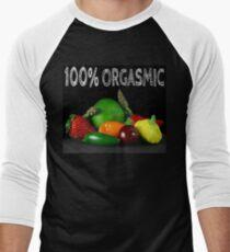 100% Orgasmic Men's Baseball ¾ T-Shirt