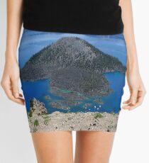 Crater Lake Volcanic Crater Oregon USA Mini Skirt