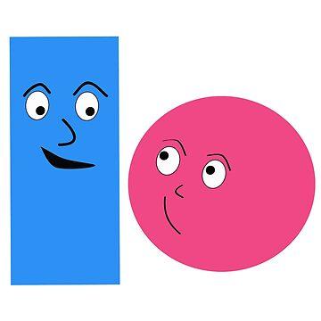 Cartoon Characters couple kawai by Homyar