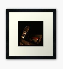 Old Books and Camera- TTV Framed Print