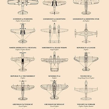 American Fighter Aircraft of WW2 by rogue-design