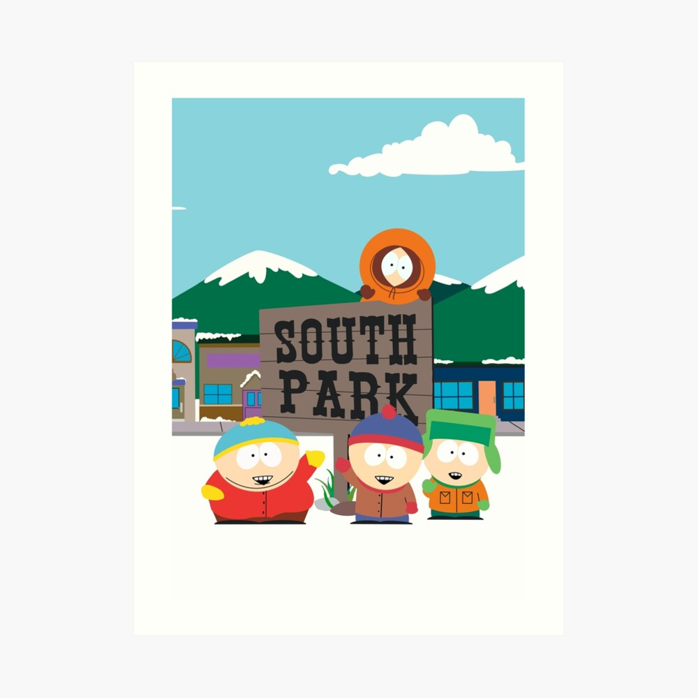 South Park Boys Kunstdruck