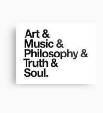 Kunst + Musik + Philosophie + Wahrheit Metallbild