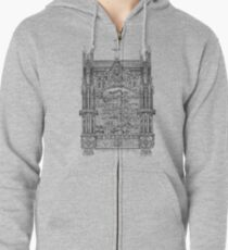 Architecture is like Music frozen in Time Zipped Hoodie