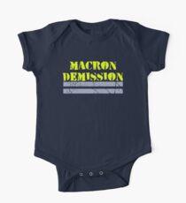 Body de manga corta para bebé Gilets Jaunes ~ Macron Demission