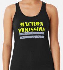 Camiseta de tirantes para mujer Gilets Jaunes ~ Macron Demission
