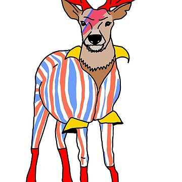 Deervid Bowie by BecHillComedian