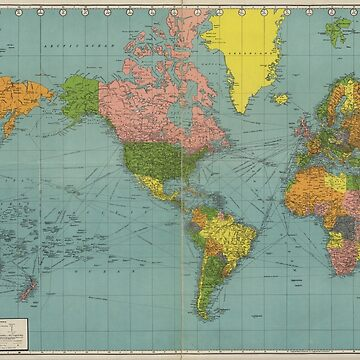 Standard Map of the World (1942) by allhistory