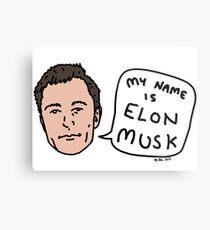 My Name Is Elon Musk Metal Print