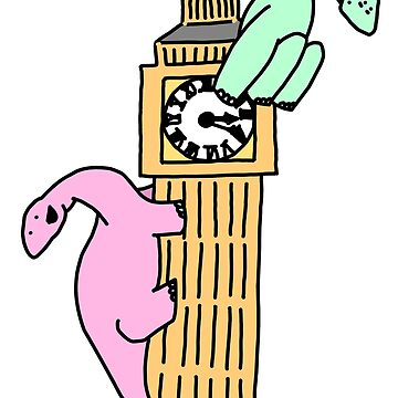 Dinosaurs on Big Ben by BecHillComedian