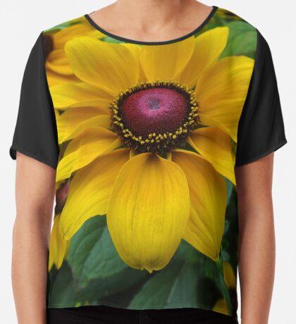 wundervoller Sonnenhut, Blume, Natur Chiffontop für Frauen